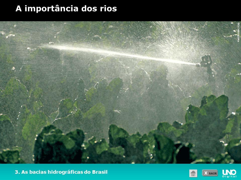 X SAIR 3. As bacias hidrográficas do Brasil A importância dos rios PHOTODISC/CID
