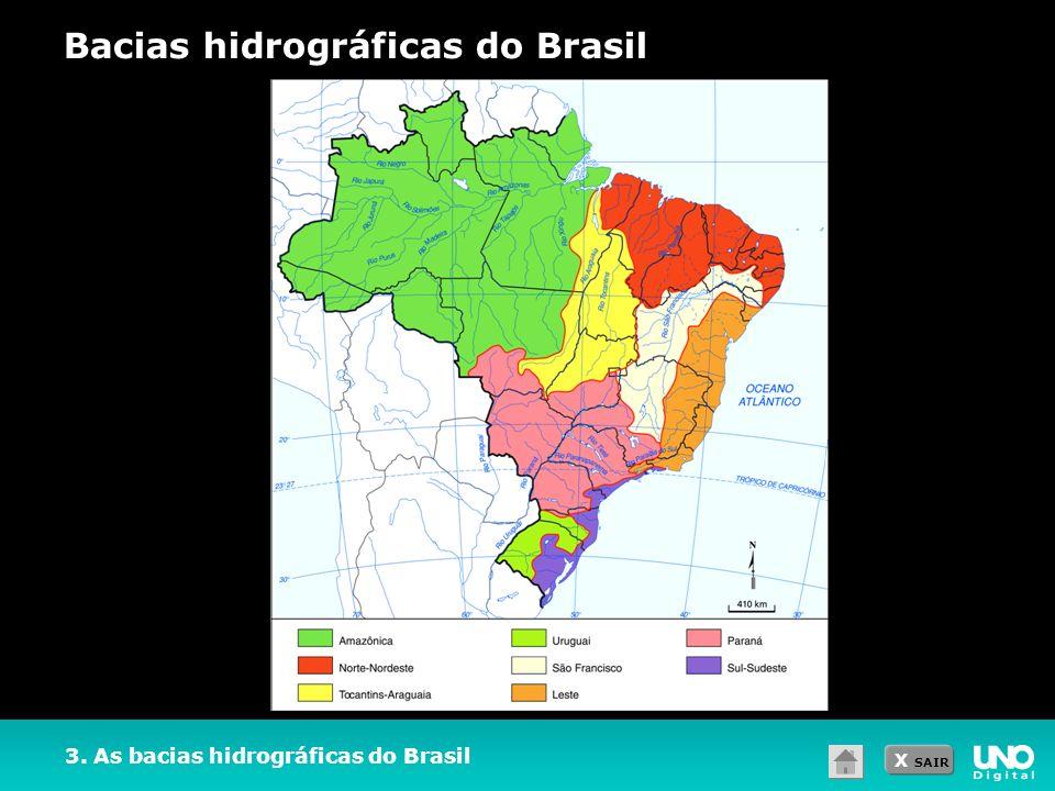 X SAIR 3. As bacias hidrográficas do Brasil Bacias hidrográficas do Brasil