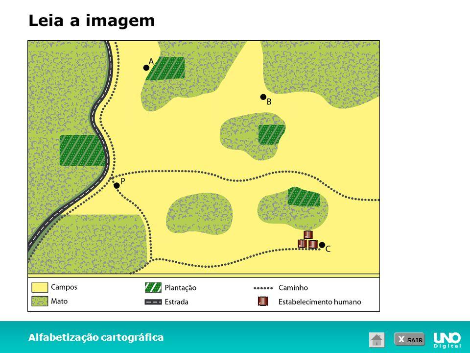 X SAIR Alfabetização cartográfica Leia a imagem