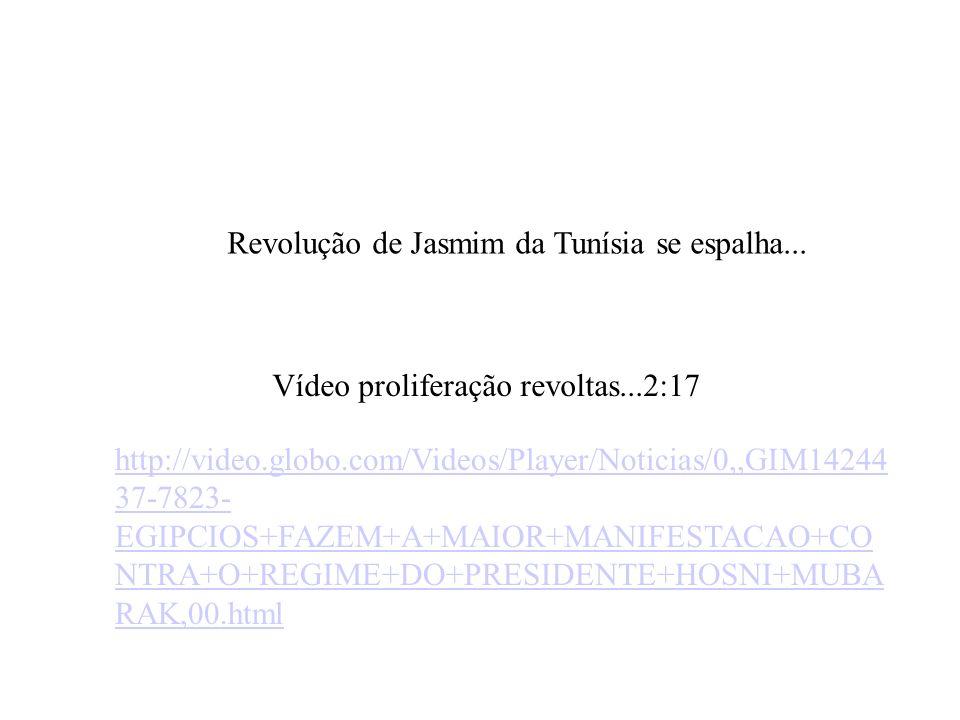 Revolução de Jasmim da Tunísia se espalha... Vídeo proliferação revoltas...2:17 http://video.globo.com/Videos/Player/Noticias/0,,GIM14244 37-7823- EGI