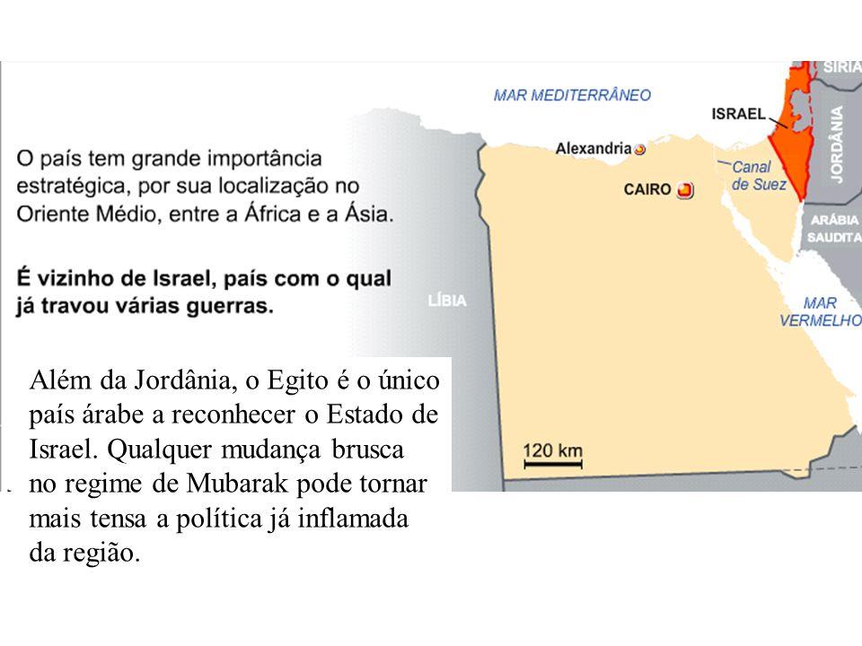Além da Jordânia, o Egito é o único país árabe a reconhecer o Estado de Israel. Qualquer mudança brusca no regime de Mubarak pode tornar mais tensa a