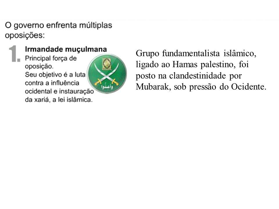 (2005) Grupo fundamentalista islâmico, ligado ao Hamas palestino, foi posto na clandestinidade por Mubarak, sob pressão do Ocidente.