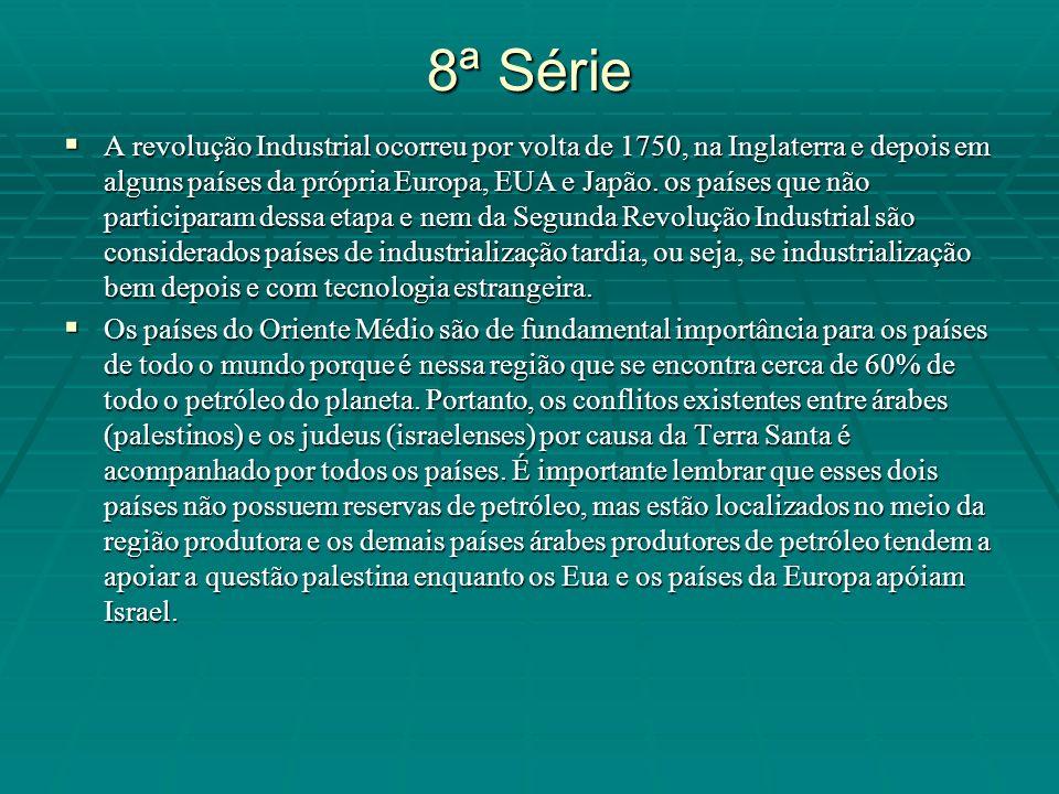 8ª Série A revolução Industrial ocorreu por volta de 1750, na Inglaterra e depois em alguns países da própria Europa, EUA e Japão. os países que não p