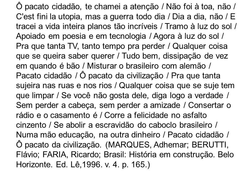 O texto de Samuel Rosa e Chico Amaral discute algumas relações relativas à sociedade contemporânea brasileira.