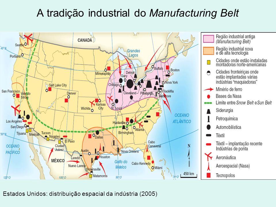 A tradição industrial do Manufacturing Belt Estados Unidos: distribuição espacial da indústria (2005)