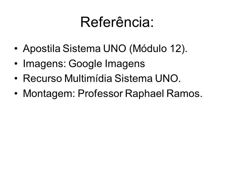 Referência: Apostila Sistema UNO (Módulo 12). Imagens: Google Imagens Recurso Multimídia Sistema UNO. Montagem: Professor Raphael Ramos.