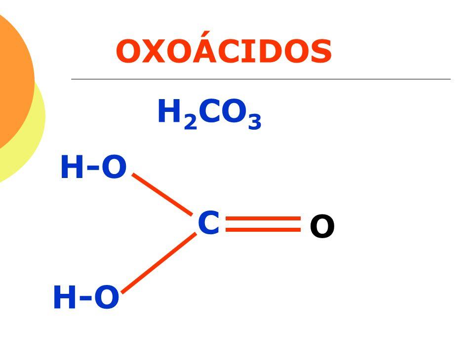 OXOÁCIDOS H 2 CO 3 C H-O O