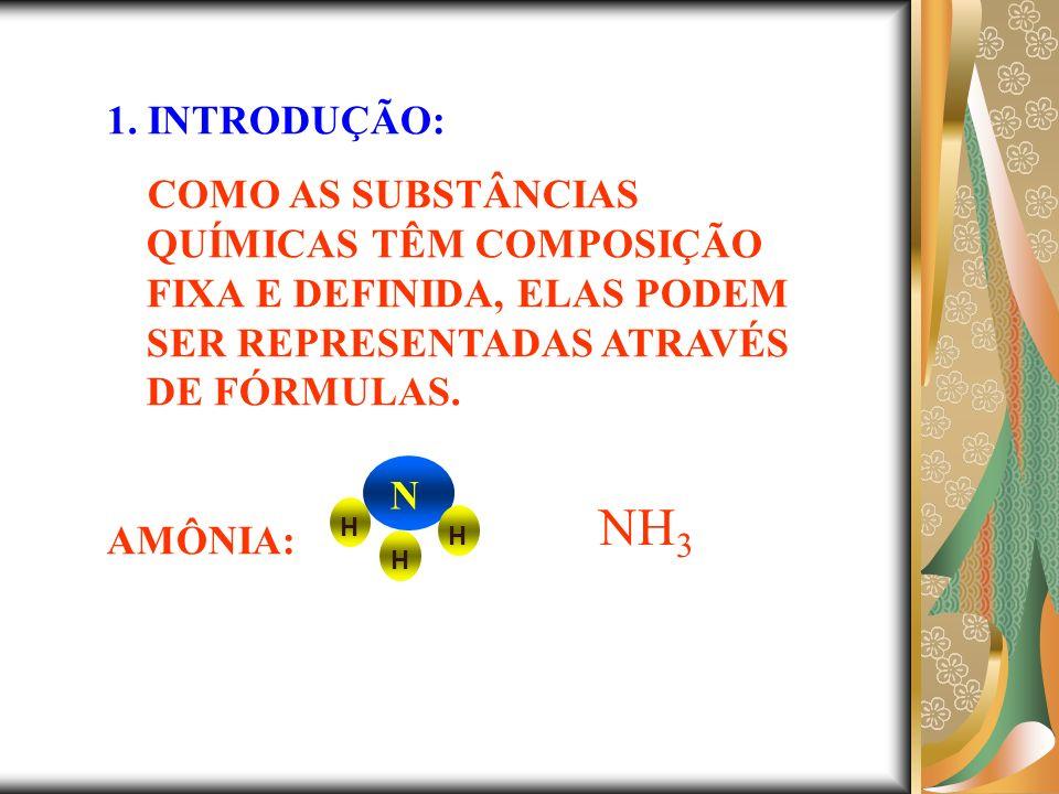 FÓRMULA : É UMA REPRESENTAÇÃO GRÁFICA (ESCRITA) DE UMA DETERMINADA SUBSTÂNCIA.