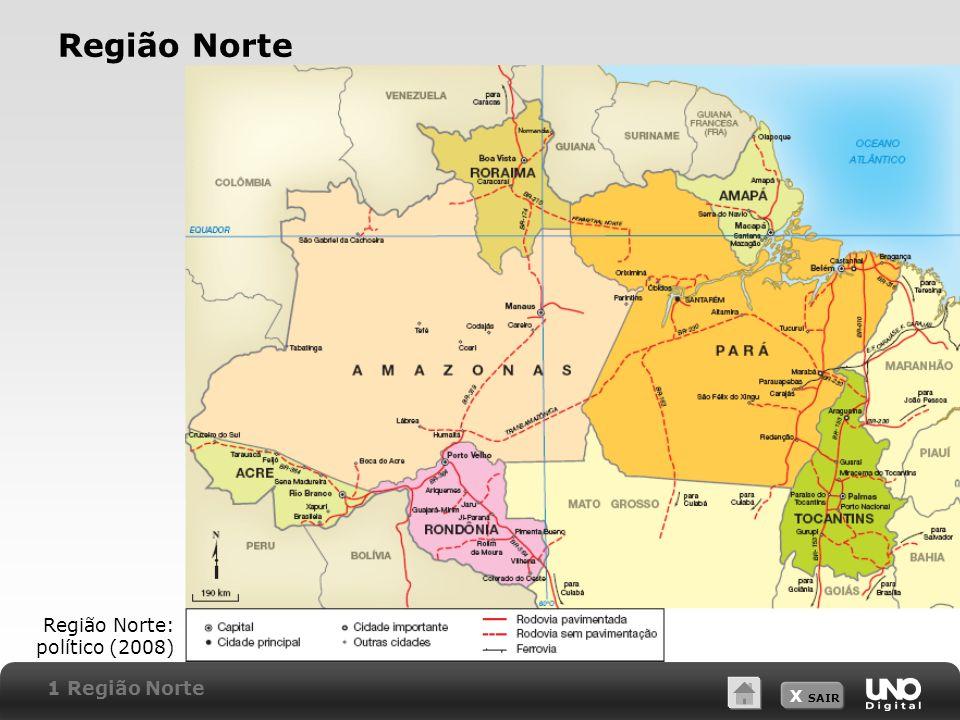 X SAIR Região Norte Região Norte: político (2008) 1 Região Norte