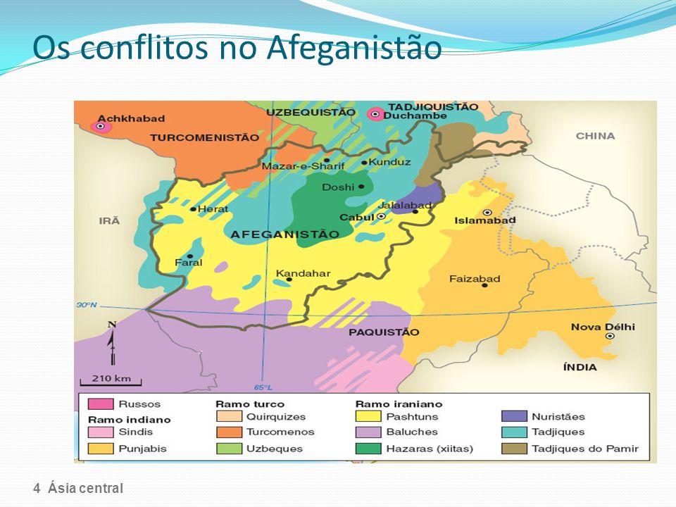 Os conflitos no Afeganistão A distribuição étnica no Afeganistão 4 Ásia central