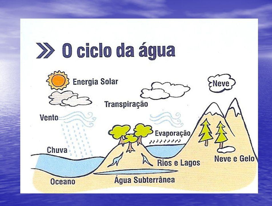 A distribuição das águas A terra é formada por ¾ de água (doce e salgada) e apenas ¼ de terra (continentes e terras).