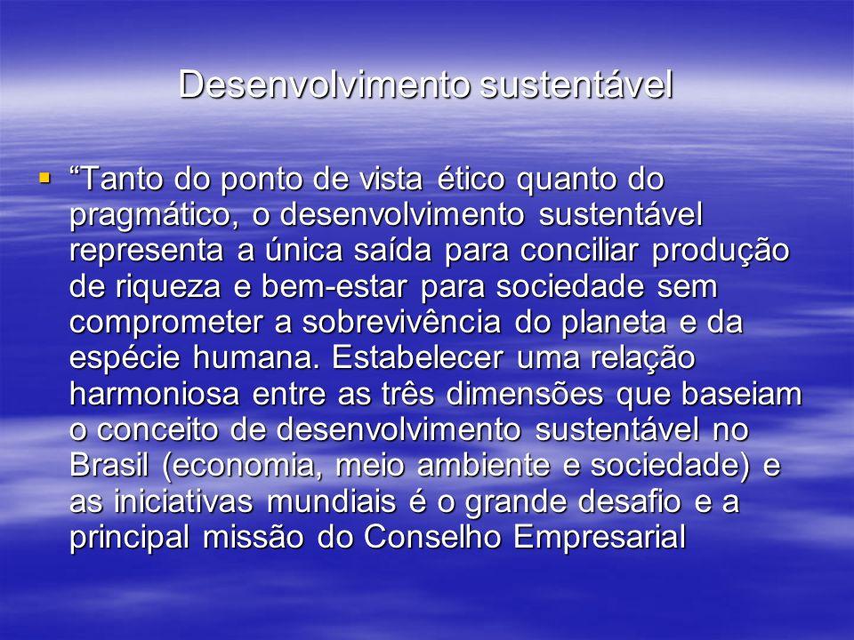 Brasileiro para o Desenvolvimento Sustentável (Cebds).