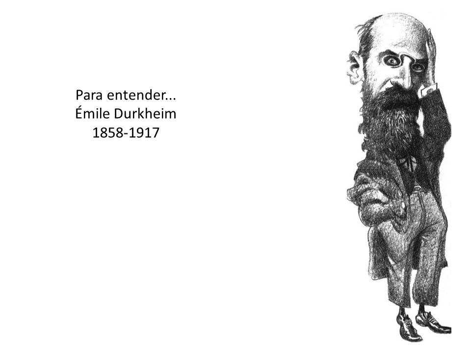 Para entender... Émile Durkheim 1858-1917
