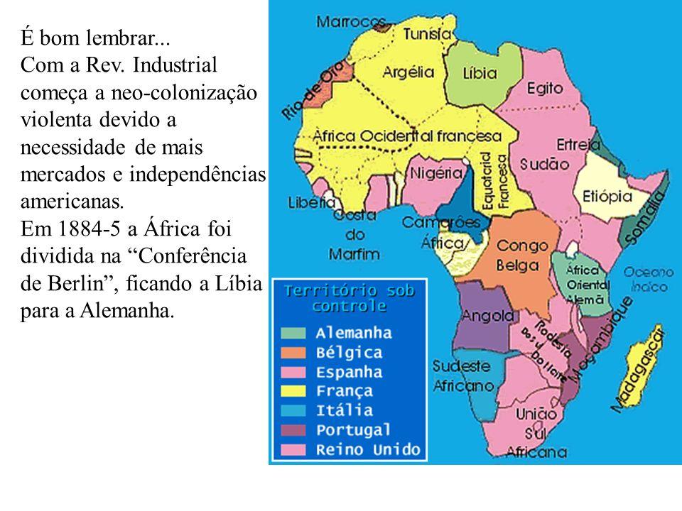 Após a Segunda Guerra Mundial, o território líbio foi divida entre o Reino Unido que ocupou Cirenaica e a Tripolitânia, e a França passou a administrar Fezã.
