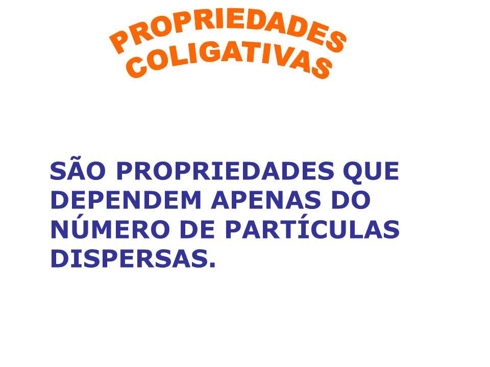 SÃO PROPRIEDADES QUE DEPENDEM APENAS DO NÚMERO DE PARTÍCULAS DISPERSAS.
