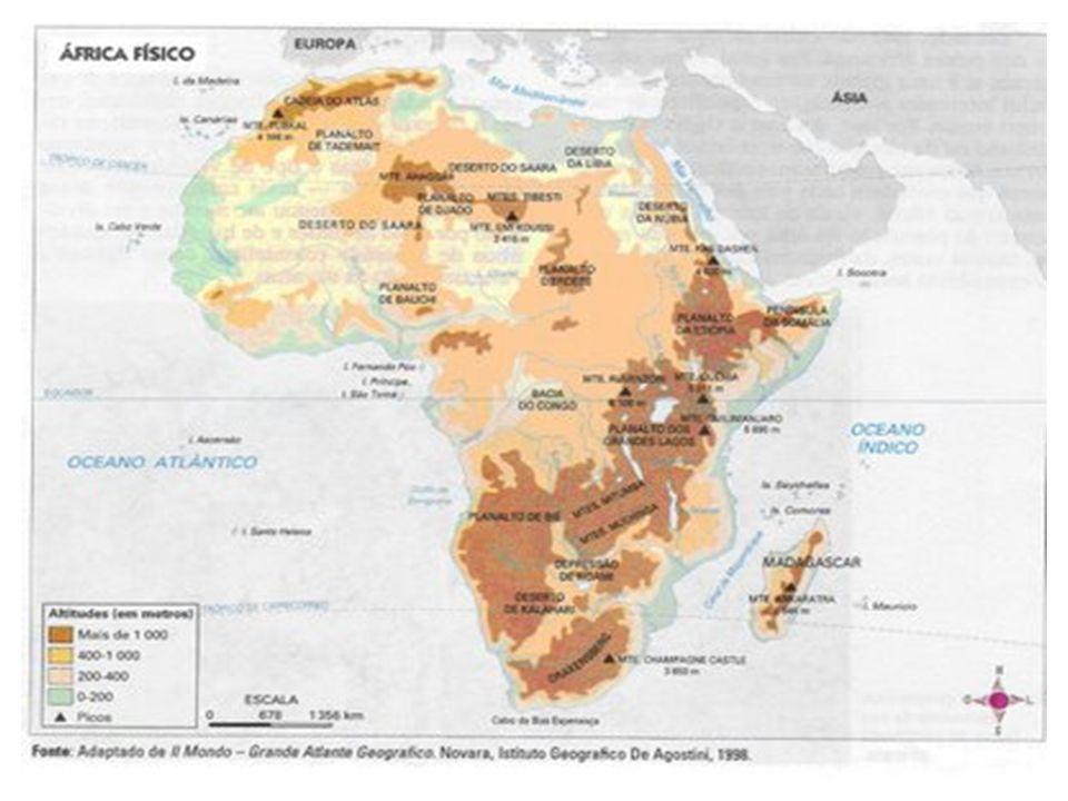África do Norte Ao norte do Deserto do Saara, constituído pelos países de maioria árabe e islâmica: Argélia, Egito, Líbia, Marrocos, Mauritânia, Saara Ocidental e Tunísia.