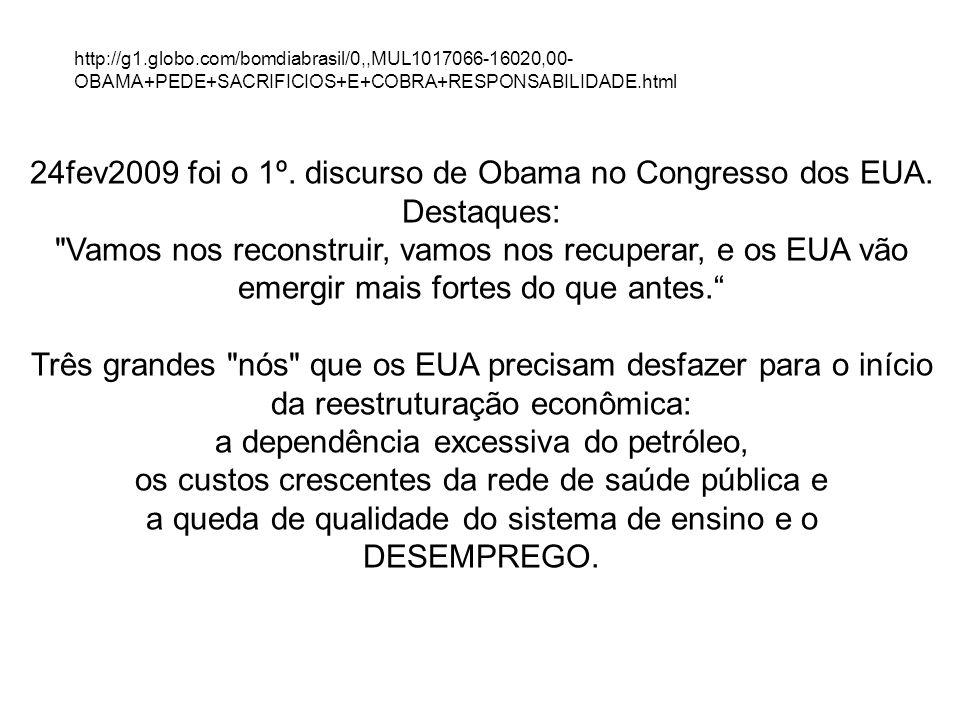 http://g1.globo.com/bomdiabrasil/0,,MUL1017066-16020,00- OBAMA+PEDE+SACRIFICIOS+E+COBRA+RESPONSABILIDADE.html 24fev2009 foi o 1º. discurso de Obama no