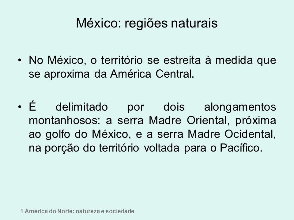 A disposição do relevo Influência das montanhas na formação do deserto do norte do México
