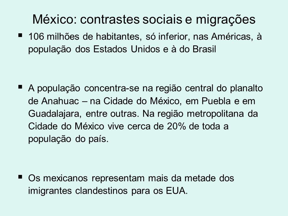 Crises Em 1994, em Chiapas, no sul do México, o movimento guerrilheiro Exército Zapatista de Libertação Nacional (EZLN); surge agregando indígenas e camponeses pobres, em luta por melhor distribuição da renda, reforma agrária, maior participação.