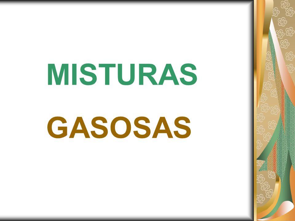 PRESSÃO TOTAL DO GÁS (P T ): DEVEMOS CONSIDERAR A SOMA DA QUANTIDADE DE MATÉRIA DE TODOS OS GASES DA MISTURA P.