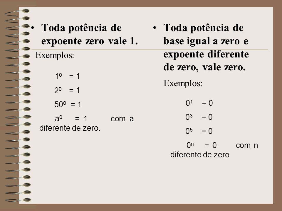 REGRAS DA POTENCIAÇÃO Toda potência de expoente 1 é igual à base.