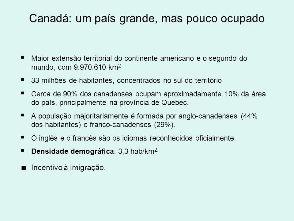 População América do Norte: população (2008*) Posição no ranking mundial População total (habitantes) Estados Unidos 3304 milhões México11108 milhões Canadá3633 milhões Groenlândia20057 mil TOTAL445.057.000