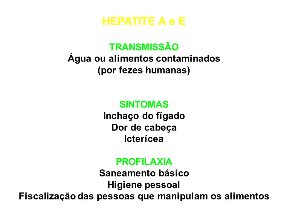 GASTRENTERITE ROTAVIRAL TRANSMISSÃO Alimentos ou água contaminados SINTOMAS Febre, diarréia e vômito. PROFILAXIA Ingerir alimentos bem lavados e água