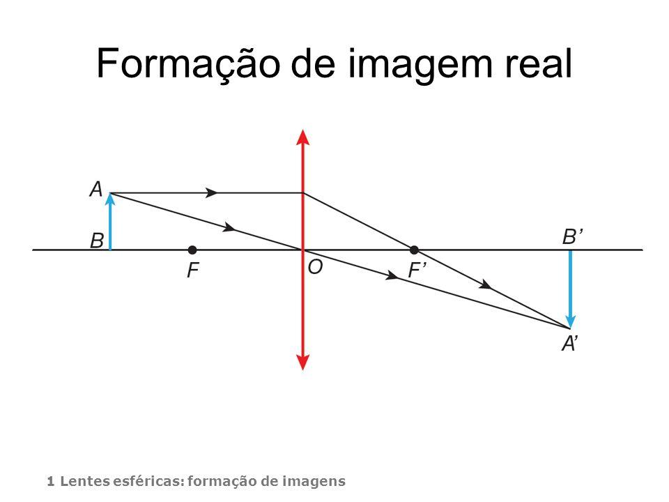 Formação de imagem real 1 Lentes esféricas: formação de imagens