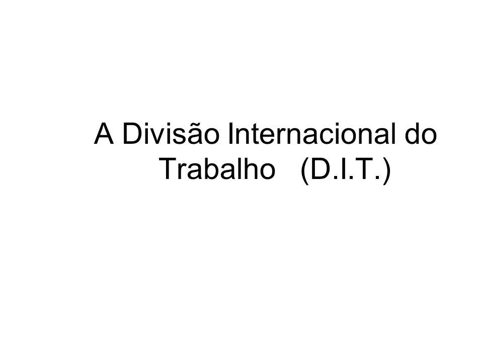 A Divisão Internacional do Trabalho (D.I.T.)