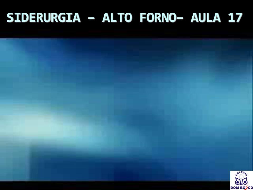 SIDERURGIA – ALTO FORNO– AULA 17
