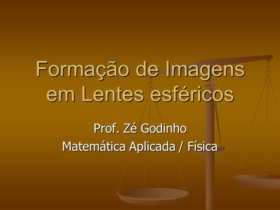 Formação de Imagens em Lentes esféricos Prof. Zé Godinho Matemática Aplicada / Física