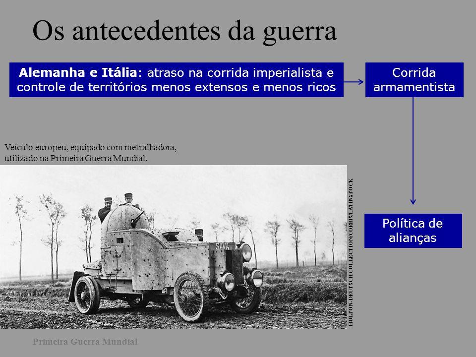 Alemanha Áustria-Hungria Turquia Bulgária Rússia França Grã-Bretanha Japão EUA Itália : Tríplice Aliança 1882: Tríplice Aliança Entre 1893 e 1907: Tríplice Entente