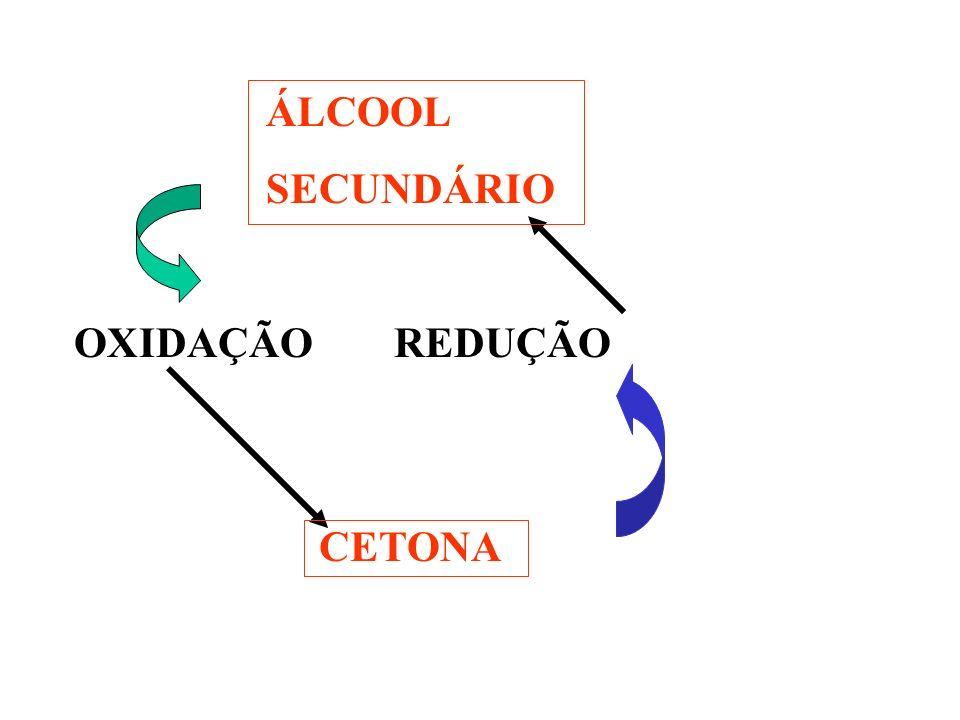 ÁLCOOL SECUNDÁRIO OXIDAÇÃO REDUÇÃO CETONA