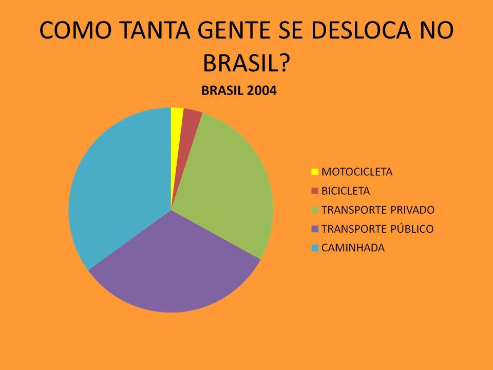 COMO TANTA GENTE SE DESLOCA NO BRASIL?