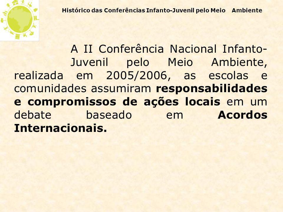 O processo desencadeou o Programa Vamos Cuidar do Brasil com as Escolas desenvolvido pela CGEA a partir de 2004, tendo especial ênfase na formação de