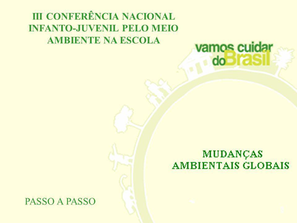 III Conferência Nacional Infanto-Juvenil pelo meio Ambiente vai discutir as mudanças climáticas a partir de quatro subtemas: água, ar, terra e fogo. H