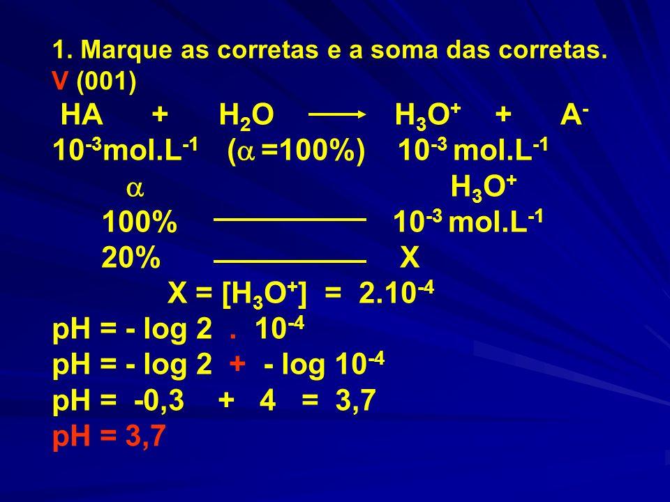 V (002) O pH de uma solução de HCN e KCN pode ser calculado por: pH = pKa + log [sal] / [ácido].