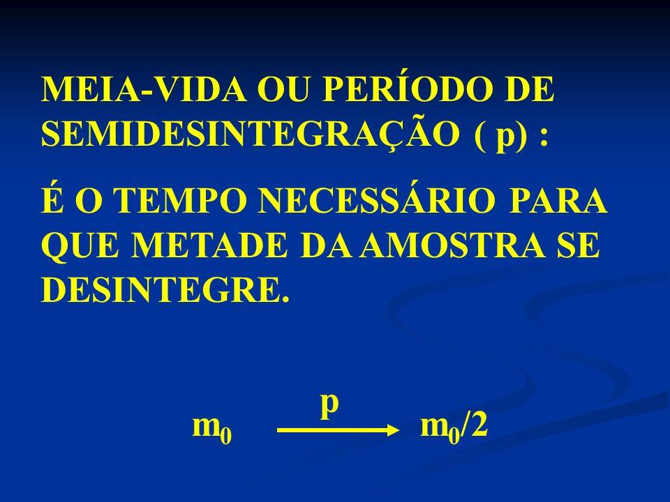 92 U 238 x 2 4 + y -1 0 + 82 Pb 182 1 0 ) ÍNDICES SUPERIORES 238 = 4x + y.0 + 182, 4x = 56, x=14 2 0 ) ÍNDICES INFERIORES 92 = 4.x – y + 82, 92= 4.14