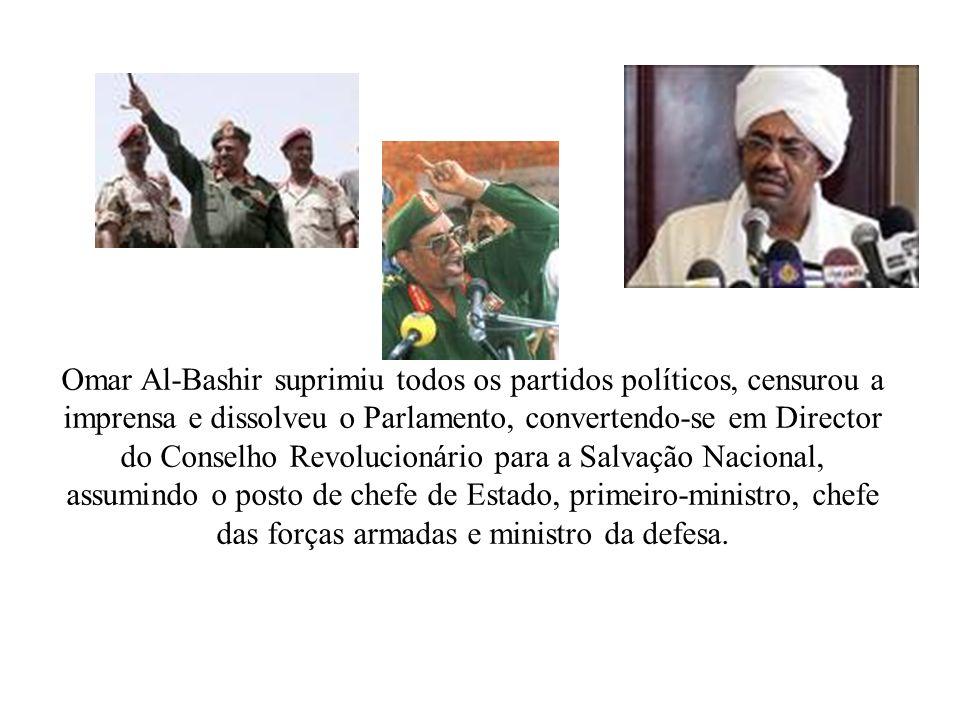 Darfur Acampamentos 5:00 http://br.youtube.com/watch?v=hd6LQHY3Bxo SUDÃO = Maior território da África, marcado pela guerra civil e atualmente pelo genocídio em Darfur, entre o ditador muçulmano Omar al-Bashir(89), guerrilheiros cristãos e animistas do sul envolvendo exploração de petróleo.