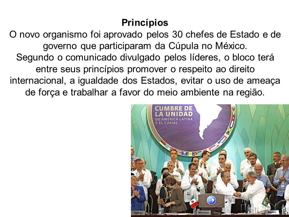 Além disso, o organismo deve promover a integração política da região assim como o diálogo com outros blocos.