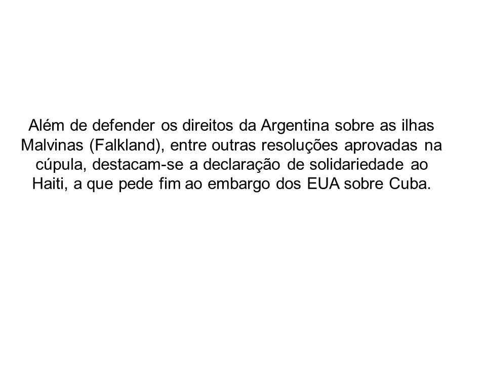 Durante o encerramento da reunião, o Chile assumiu a secretaria temporária do Grupo do Rio com o objetivo de transformar à CELAC-Comunidade de Estados Latino- americanos e Caribenhos em um fórum político fundamental da região, afirmou a presidente chilena, Michele Bachelet.