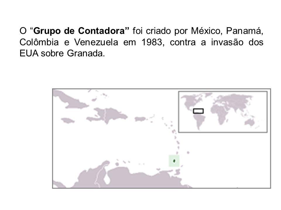 Granada conseguiu sua independência (x Inglaterra) em 1974 e em 1979 tornou-se marxista sob a liderança de Maurice Bishop com apoio cubano e soviético.