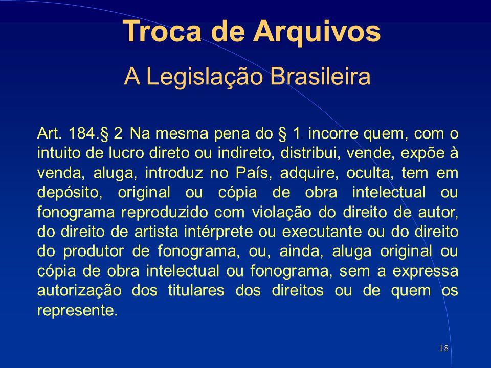 18 Troca de Arquivos A Legislação Brasileira Art.
