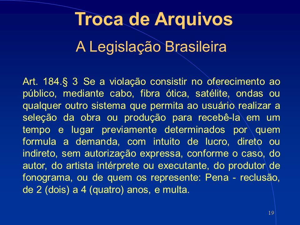 19 Troca de Arquivos A Legislação Brasileira Art.