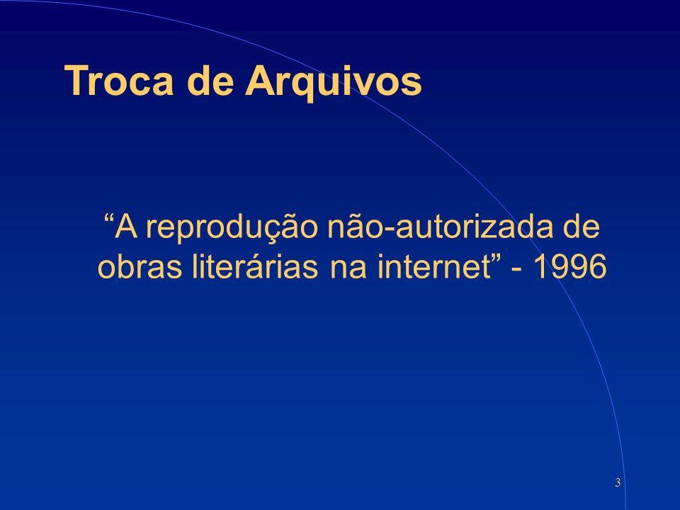 3 Troca de Arquivos A reprodução não-autorizada de obras literárias na internet - 1996