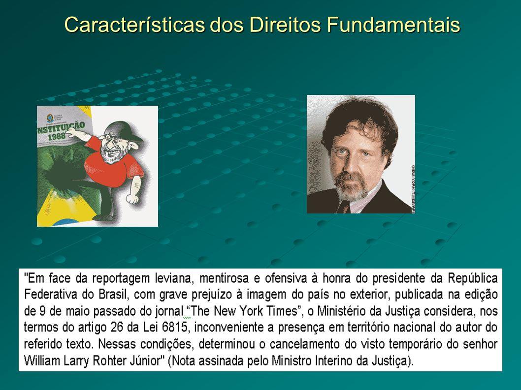 Características dos Direitos Fundamentais