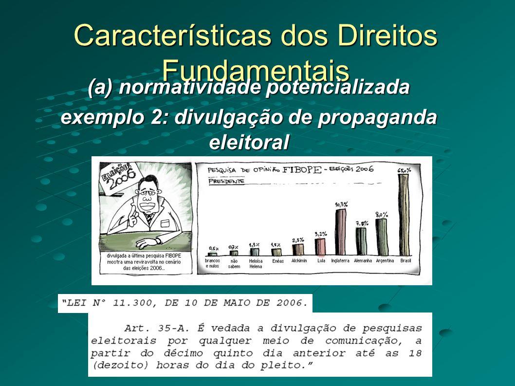Características dos Direitos Fundamentais (d) Exigibilidade (Justiciabilidade) Exemplo 2: Controle das CPIs