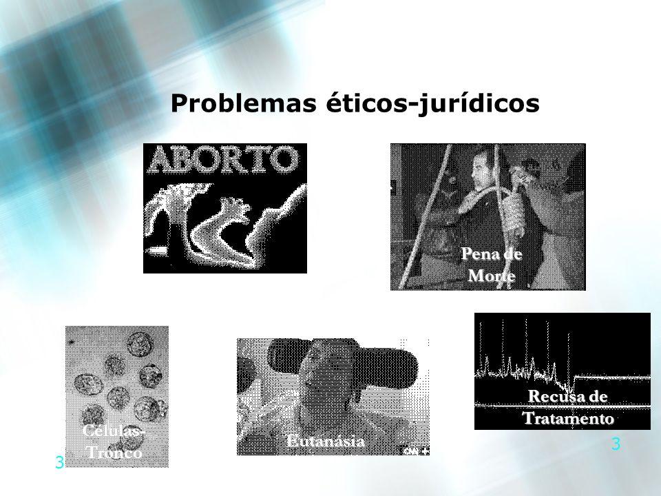 3 3 Problemas éticos-jurídicos Recusa de Tratamento Células- Tronco Pena de Morte Eutanásia
