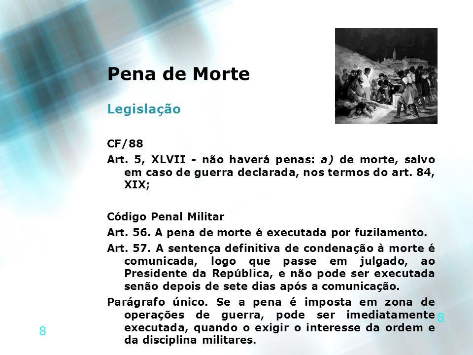 9 9 Pena de Morte > Legislação CÓDIGO PENAL MILITAR LIVRO II DOS CRIMES MILITARES EM TEMPO DE GUERRA