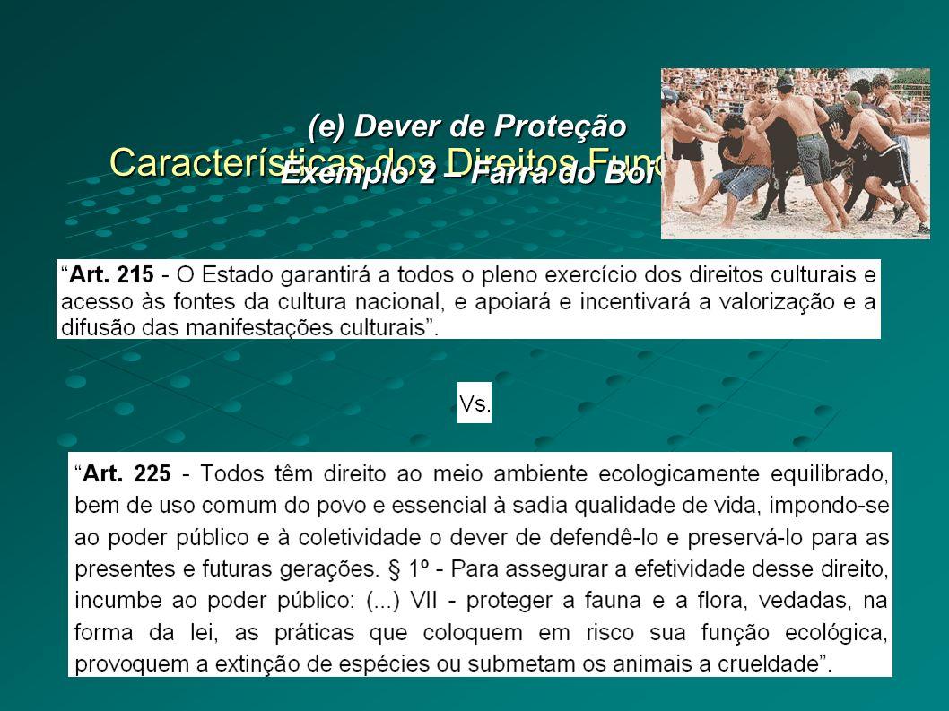 Características dos Direitos Fundamentais (e) Dever de Proteção Exemplo 2 – Farra do Boi
